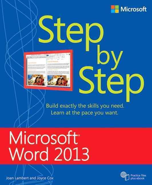 Microsoft Word 2013 Step by Step By Lambert, Joan/ Cox, Joyce